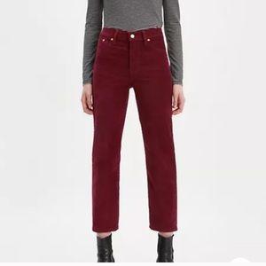 Levi's Premium Wedgie Straight Corduroy Jeans